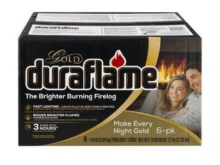 Duraflame Gold Ultra Premium 4 5lb Firelogs  6 pack Case  3 Hour Burn