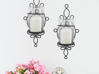 Better Homes   Gardens Wall Sconce Pillar Candle Holders  2 Count