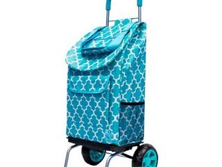 Dbest products Trolley Dolly Moroccan Tile   Multipurpose Collapsible Cart  Blue