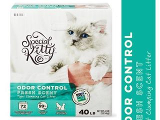 Special Kitty Scoopable Tight Clumping Cat litter  Fresh Scent  40 lb