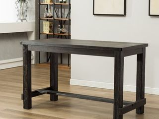 Roundhill lotusville Antique Black Finish Rectangular Wood Counter Height Dining Table