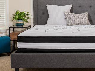 10 in  Capri Comfortable Sleep CertiPUR US Certified Hybrid Pocket Spring Mattress   Twin