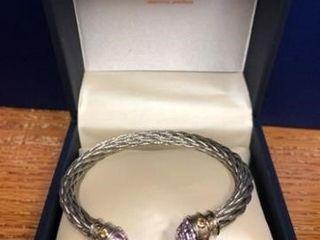 Sterling Silver Bracelet w Citrine lavender Tops