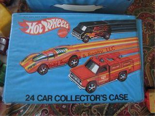 Hotwheels 24 car collectors case has 10 cars