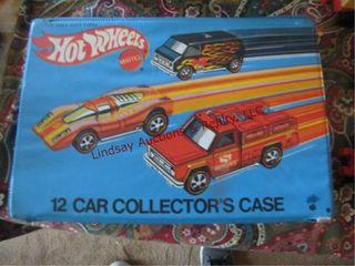 Hotwheels 12 car collectors case has 7 cars