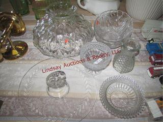16pcs clear glass SEE PICS