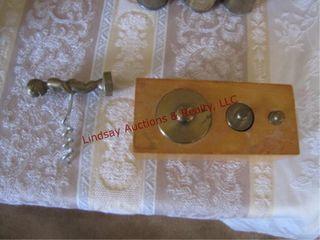 Brass cork screw remover   brass weights