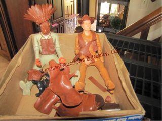 Cowboy   indian dolls w  chaps