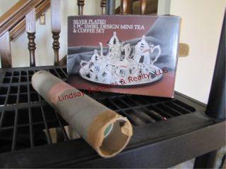 Silver plated 5pc mini tea coffee set  dog posters