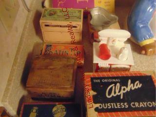 Group w  8 vintage boxes  cake decorator
