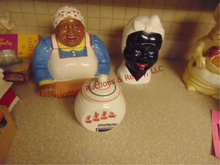 Group w  2 cookie jars   small cannister
