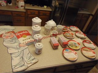 19pcs of Campbell soup collector plates