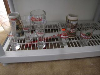 6 various size beer mugs   glasses SEE PICS