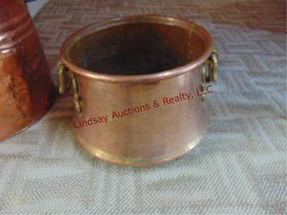Copper pot 11 5  round x 9  tall