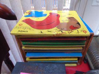 16 vintage play skool wood puzzles