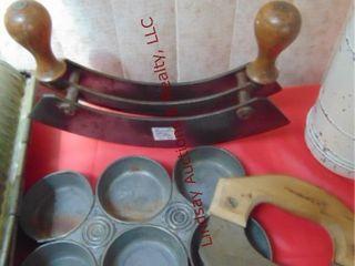 3 vintage cookware  german slaw cutter