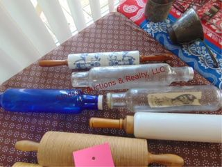 5 glass   marble rolling pins