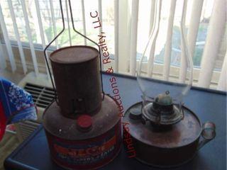 2pcs of vintage auto motor heater   metal lantern