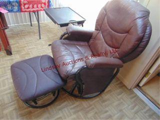 Swivel rocking chair w  foot stool