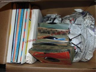Box of record albums   45 s