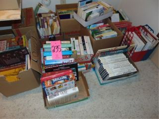 13 boxes of various books  wildlife  cooking