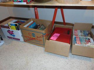 4 boxes of books  pop mechanics  gardening