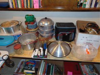 12 pcs of various cookware  knives  pots  pans