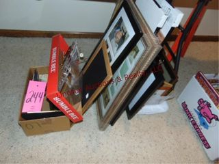 Group of picture frames various sizes