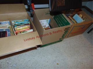 3 boxes of books  story  mad books  kids   other