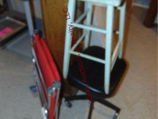 3pcs  wood stool  adj stool on whls    patio chair
