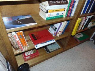 6 shelves of cook books