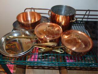 7pcs of copper cookware