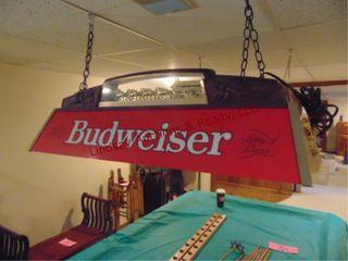 Budweiser pool table light 49  x 14
