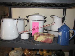 7pcs Black   white granite ware   other pcs