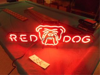 Red dog neon beer sign  works