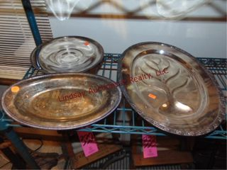 3pcs of silver plate