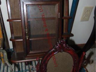 2pcs wood shelf cabinet 17 tall x 13  wide   a