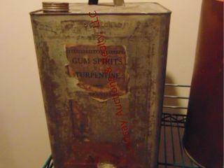 5 gallon gum spirits of terpentine advertising can