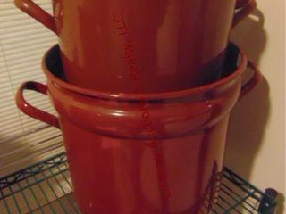 Double granite pot 13  round x 13  tall
