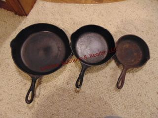 3 Cast iron skillet 6  to 10