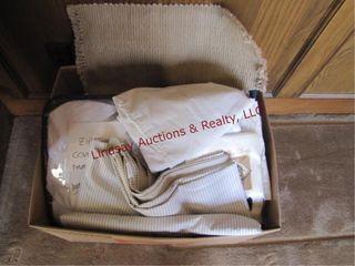 Box w  misc linens