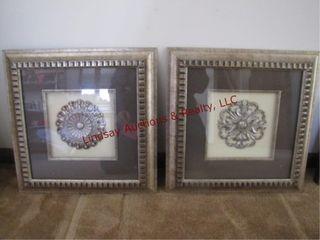 2 wall art frames 17x17 SEE PICS
