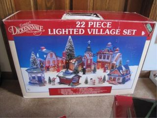 le Max Dickensvale 22 pc lighted village set in bx