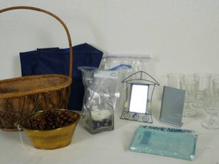 Nice Wicker Basket  Frames  Material Napkins  and More