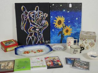Beautiful Canvas Painted Pictures  DVD Movies  Wii Game  and More  See Photos