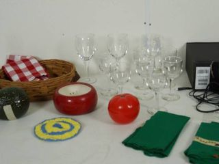 Sony Stereo Headphones  Wine Glasses  Material Napkins  and More