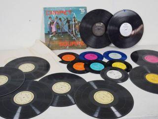 lot of Vintage Vinyl Records   45 rpm   78 rpm   See Photos