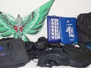 lot of Backpacks  Bleacher Seat Cushions  Bird Kite