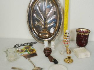lot of Misc  Item   Silver Platter  and lots More  See Photos