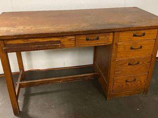 Wood Desk   55  long x 25  Deep x 30 High